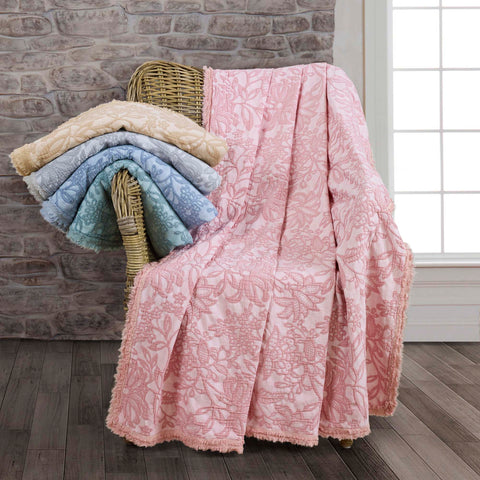Toile Mauve Throw [Luxury comforter Sets] [by Latest Bedding]