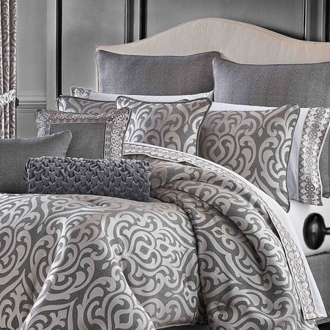 Tribeca Charcoal 4-Piece Comforter Set [Luxury comforter Sets] [by Latest Bedding]