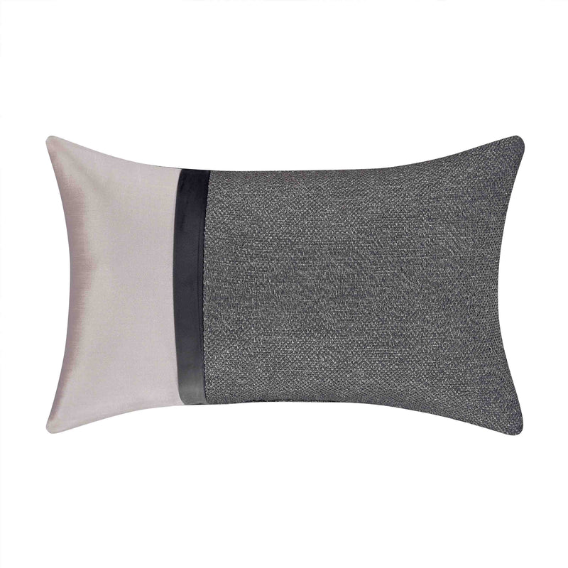 Tribeca Charcoal Boudoir Decorative Throw Pillow [Luxury comforter Sets] [by Latest Bedding]