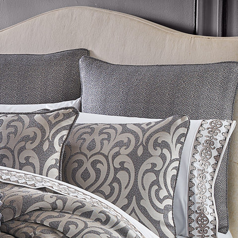 Tribeca Charcoal Euro Sham [Luxury comforter Sets] [by Latest Bedding]