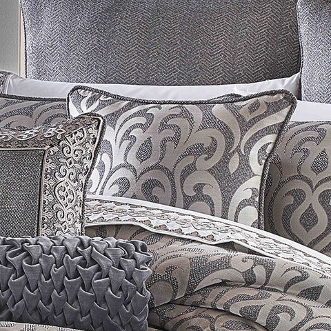 "Tribeca Charcoal Square Decorative Throw Pillow 20"" x 20"" [Luxury comforter Sets] [by Latest Bedding]"
