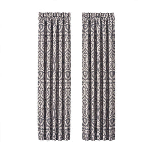 Tribeca Charcoal Window Panel Pair [Luxury comforter Sets] [by Latest Bedding]