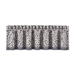 Tribeca Charcoal Straight Window Valance [Luxury comforter Sets] [by Latest Bedding]