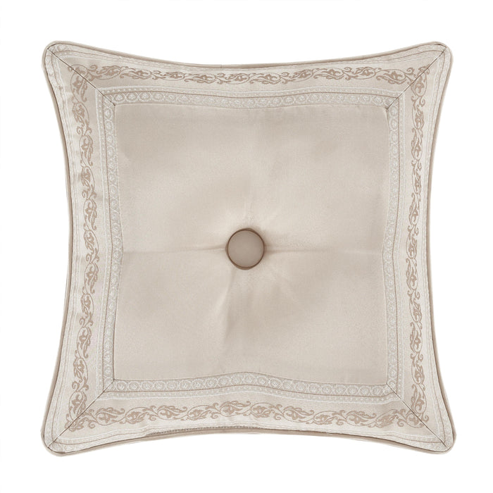 "Trinity Champagne Square Decorative Throw Pillow 18"" x 18"""