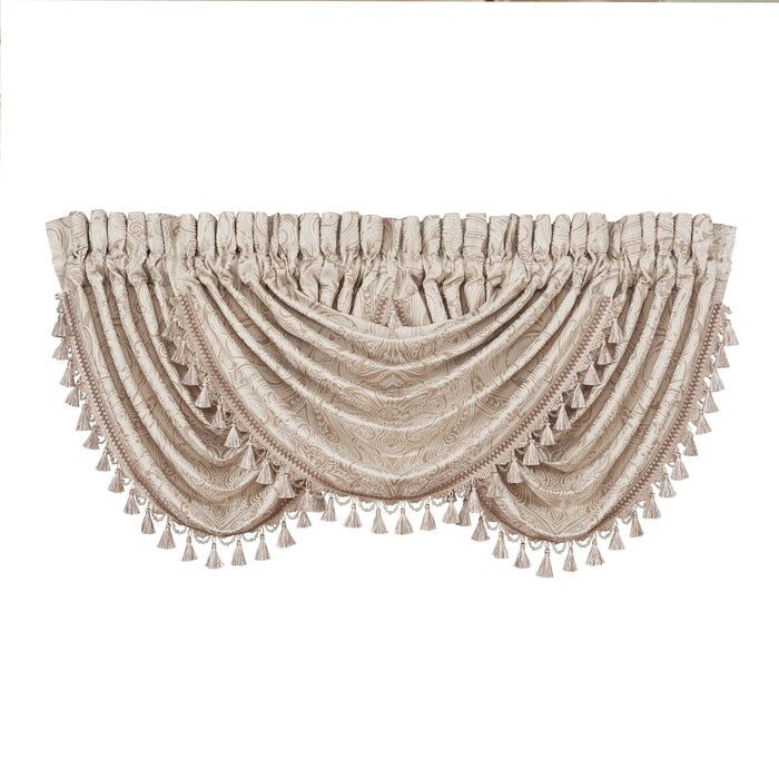 Trinity Champagne Waterfall Window Valance