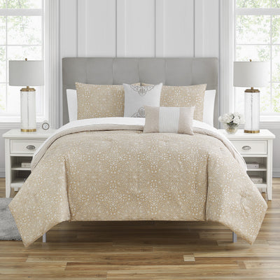Troyes Mocha 5-Piece Comforter Set [Luxury comforter Sets] [by Latest Bedding]