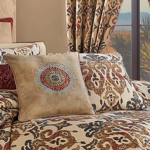 "Tucson Multi Throw Pillow 18"" X 18"" [Luxury comforter Sets] [by Latest Bedding]"