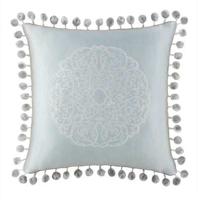 "Jonet Cream/Aqua Dec Pillow 16""W x 16""L [Luxury comforter Sets] [by Latest Bedding]"