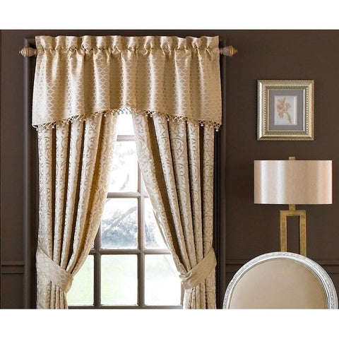 Anya Pale Gold Tailored Valance by Waterford [Luxury comforter Sets] [by Latest Bedding]