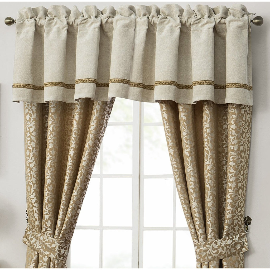 Ansonia Ivory Tailored Valance by Waterford [Luxury comforter Sets] [by Latest Bedding]