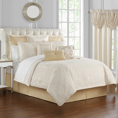 Valetta Ivory 4-Piece Comforter Set Comforter Sets By Waterford