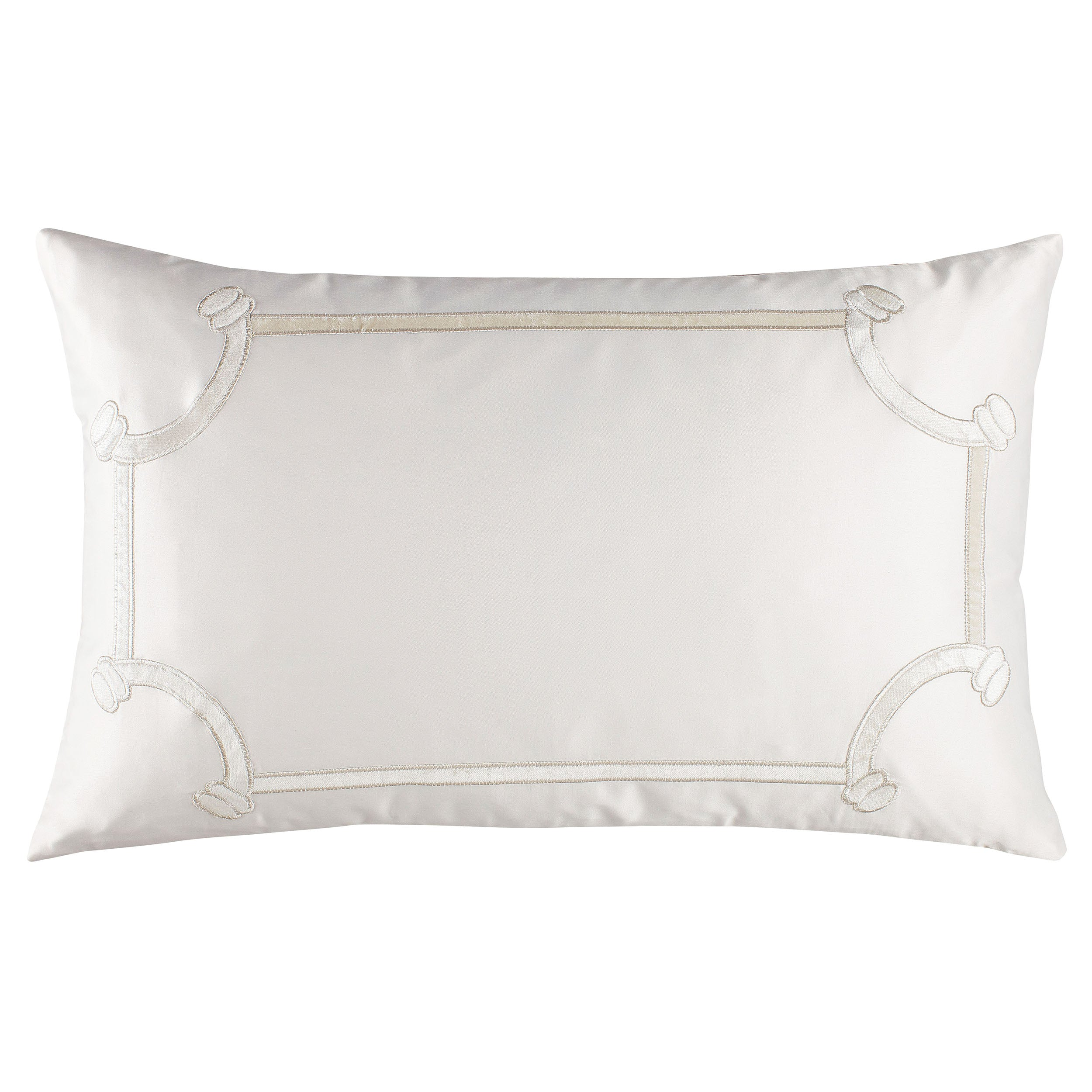 Vendome Ivory Boudoir Pillow - Lili Alessandra Throw Pillows By Lili Alessandra