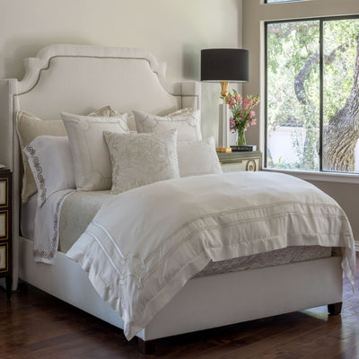 Vendome Ivory Duvet Cover - Lili Alessandra [Luxury comforter Sets] [by Latest Bedding]