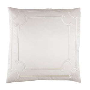 Vendome Ivory Euro Pillow - Lili Alessandra [Luxury comforter Sets] [by Latest Bedding]