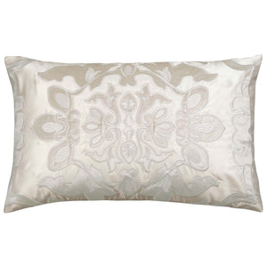 Vendome Ivory Morocco Boudoir Pillow - Lili Alessandra [Luxury comforter Sets] [by Latest Bedding]