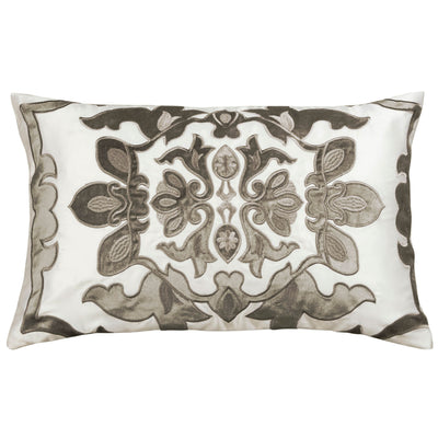 Vendome Ivory Morocco Silk Boudoir Pillow - Lili Alessandra [Luxury comforter Sets] [by Latest Bedding]