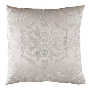 Vendome Ivory Morocco Square Pillow - Lili Alessandra [Luxury comforter Sets] [by Latest Bedding]
