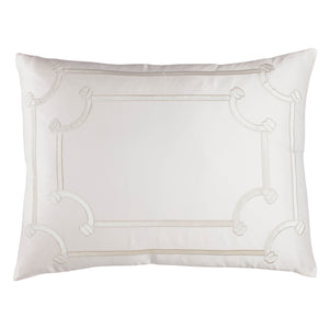 Vendome Ivory Pillow - Lili Alessandra [Luxury comforter Sets] [by Latest Bedding]