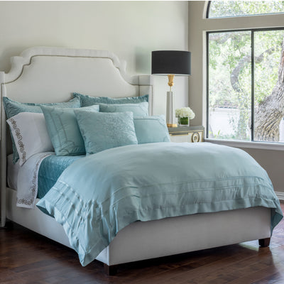 Vendome Sea Foam S&S Velvet Duvet Cover [Luxury comforter Sets] [by Latest Bedding]