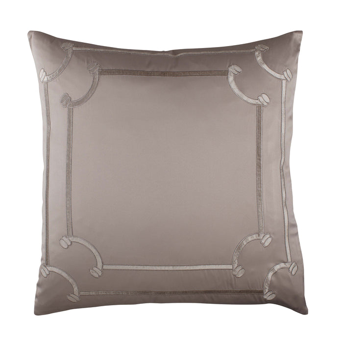Vendome Taupe S&S Fawn Velvet Euro Throw Pillow