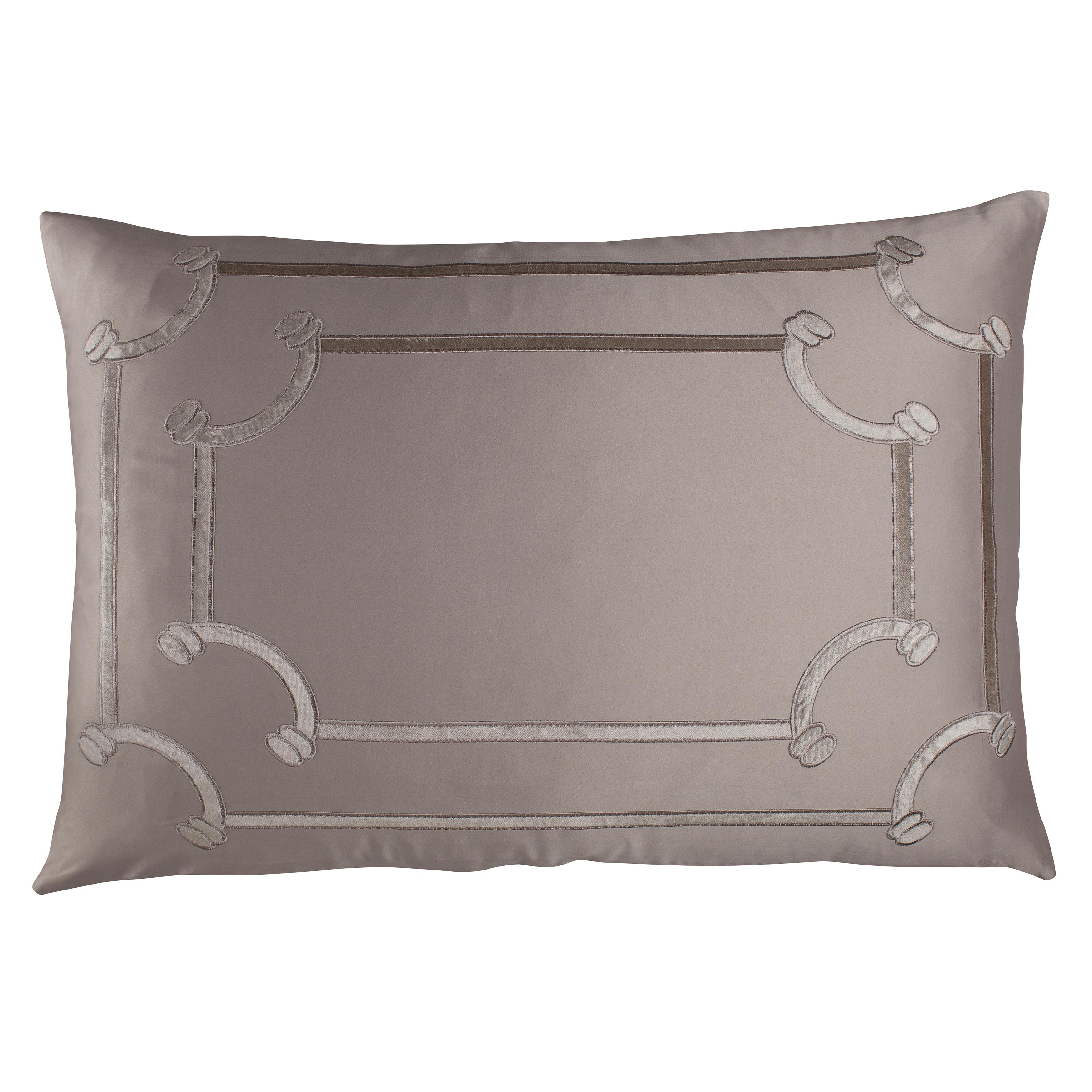 Vendome Taupe S&S Fawn Velvet Throw Pillow Throw Pillows By Lili Alessandra