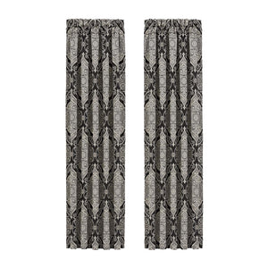 Vera Black Window Panel Pair [Luxury comforter Sets] [by Latest Bedding]