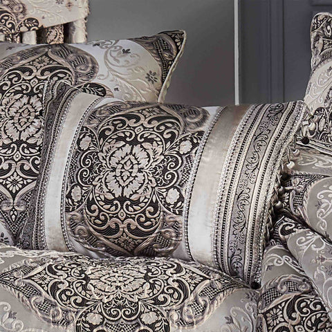 Vera Silver Boudoir Decorative Throw Pillow [Luxury comforter Sets] [by Latest Bedding]
