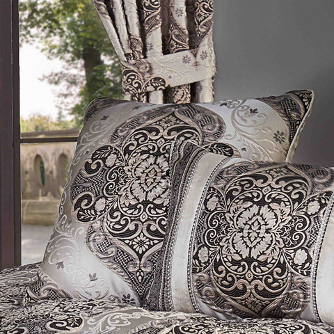 "Vera Silver Decorative Throw Pillow 20"" x 20"" [Luxury comforter Sets] [by Latest Bedding]"