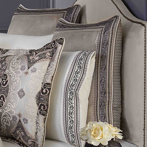 Vera Silver Euro Sham [Luxury comforter Sets] [by Latest Bedding]