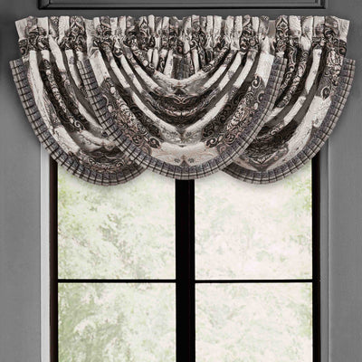 Vera Silver Waterfall Window Valance [Luxury comforter Sets] [by Latest Bedding]