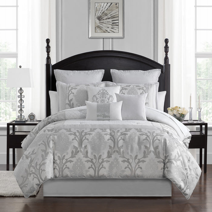 Verina Silver 7-Piece Comforter Set