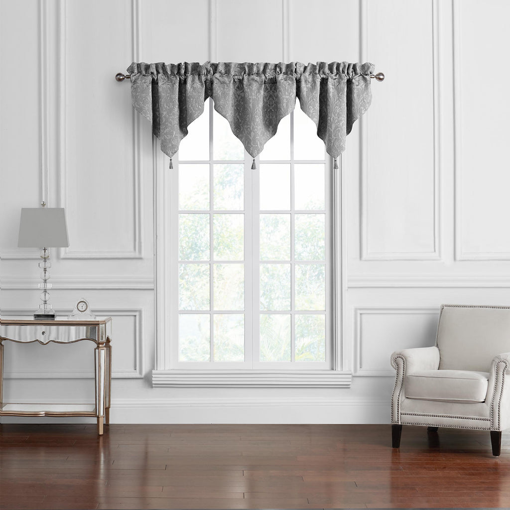 Vernon Grey Window Valance [Luxury comforter Sets] [by Latest Bedding]