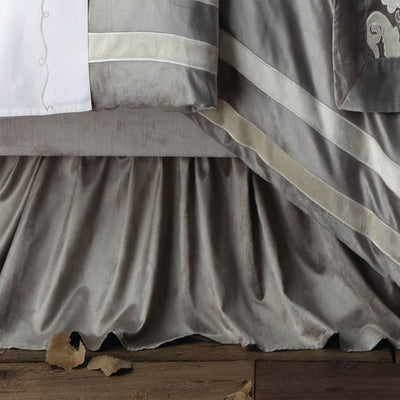 Versailles Silver Chloe Bed Skirt - Lili Alessandra [Luxury comforter Sets] [by Latest Bedding]