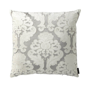 Versailles Silver Decorative Pillow - Lili Alessandra [Luxury comforter Sets] [by Latest Bedding]