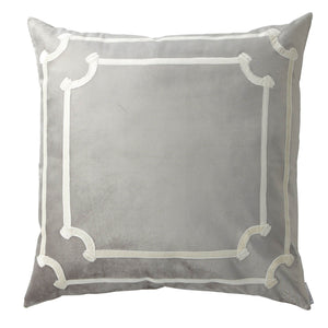 Versailles Silver Euro Pillow - Lili Alessandra [Luxury comforter Sets] [by Latest Bedding]
