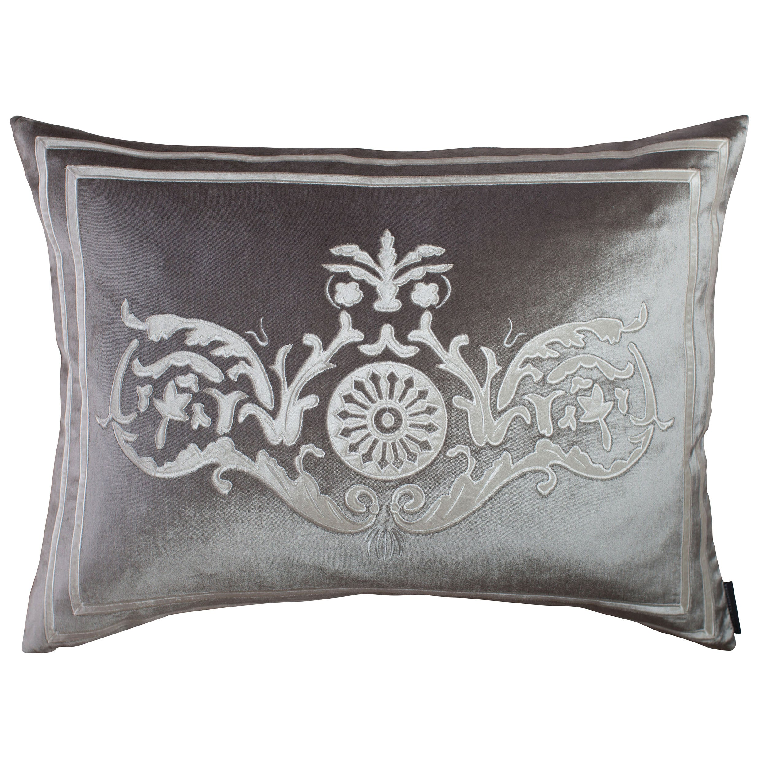 Versailles Silver Paris Velvet Pillow - Lili Alessandra Throw Pillows By Lili Alessandra