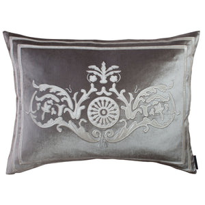 Versailles Silver Paris Velvet Pillow - Lili Alessandra [Luxury comforter Sets] [by Latest Bedding]