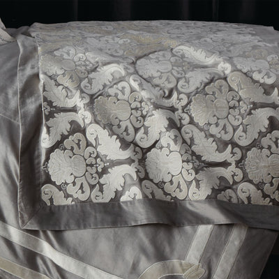 Versailles Silver Velvet Throw - Lili Alessandra Throws By Lili Alessandra