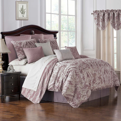 Victoria Orchid 4-Piece Comforter Set by Waterford [Luxury comforter Sets] [by Latest Bedding]