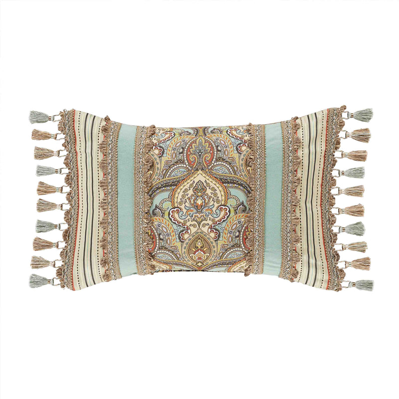 Victoria Turquoise Boudoir Decorative Throw Pillow [Luxury comforter Sets] [by Latest Bedding]