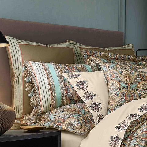 Victoria Turquoise Euro Sham [Luxury comforter Sets] [by Latest Bedding]