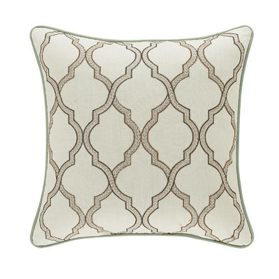 Vienna SPA Square Embellished Decorative Throw Pillow- Throw Pillows By J. Queen New York
