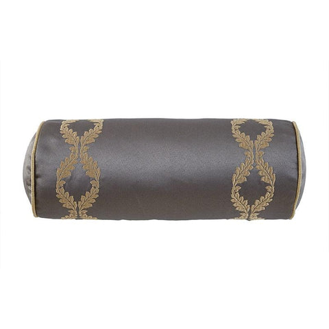 "Walton Charcoal/Bronze Decorative Pillow 6"" x 15"" [Luxury comforter Sets] [by Latest Bedding]"