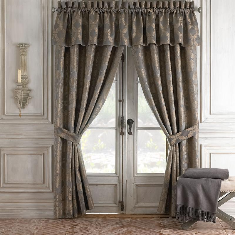 Walton Charcoal/Bronze Window Panel Pair [Luxury comforter Sets] [by Latest Bedding]