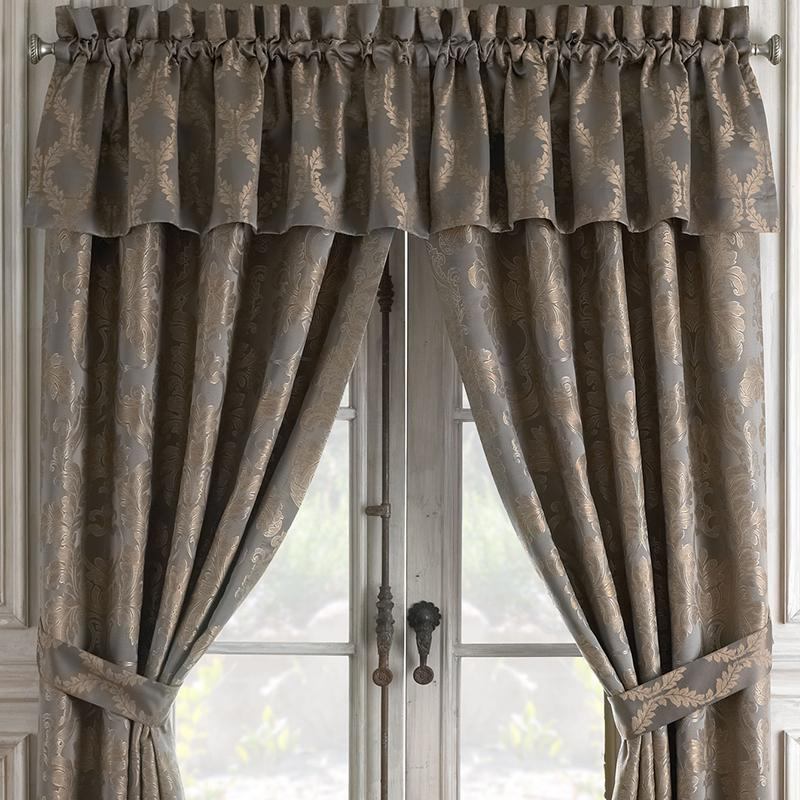 Walton Charcoal/Bronze Window Valance [Luxury comforter Sets] [by Latest Bedding]