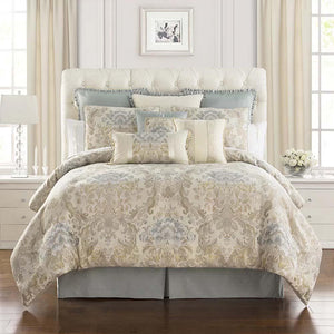 Warren Multicolor 4 Piece Comforter Set [Luxury comforter Sets] [by Latest Bedding]