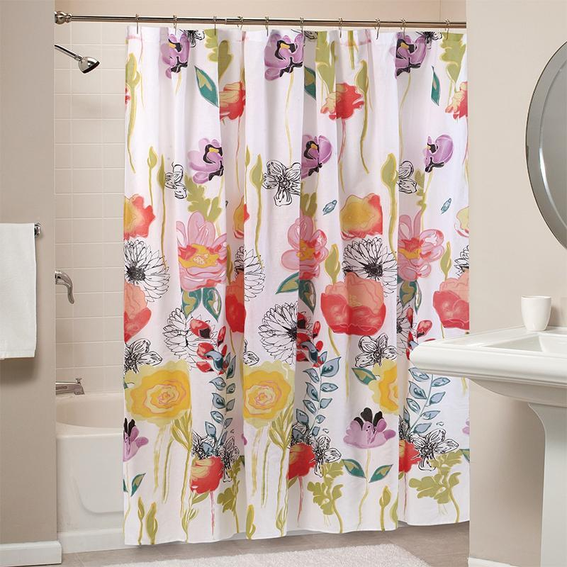 Watercolor Dream Multi Bath Shower Curtain [Luxury comforter Sets] [by Latest Bedding]