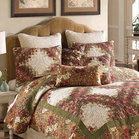 Watercolor Irish Chain 3-Piece Quilt Set [Luxury comforter Sets] [by Latest Bedding]