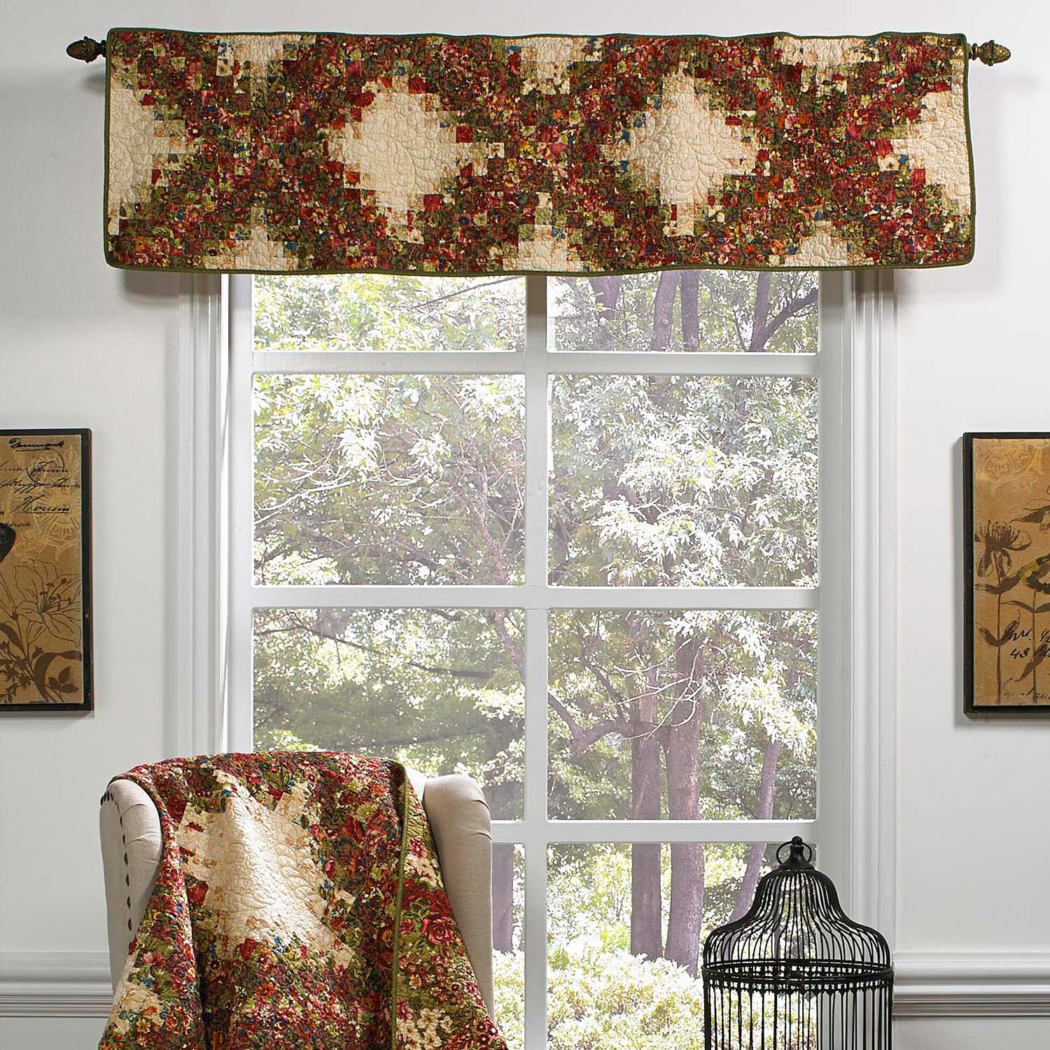 Watercolor Irish Chain Window Valance [Luxury comforter Sets] [by Latest Bedding]