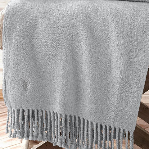 Throws Waterford Connemara Platinum Silk Throw Latest Bedding